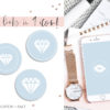 Light Baby Blue Instagram Stylish Social Media Highlight Cover Icons by Scotch and Salt