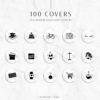 Marble Black Instagram Stylish Social Media Highlight Cover Icons by Scotch and Salt