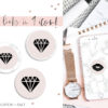 Pink Marble Instagram Stylish Social Media Highlight Cover Icons by Scotch and Salt