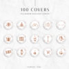 Rose Gold Marble Instagram Stylish Social Media Highlight Cover Icons by Scotch and Salt