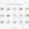 Mint Gold Instagram Stylish Social Media Highlight Cover Icons by Scotch and Salt