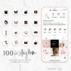 Pink White and Black Instagram Stylish Social Media Highlight Cover Icons by Scotch and Salt