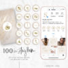 Pink Marble Gold Instagram Stylish Social Media Highlight Cover Icons by Scotch and Salt