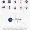 Pink Blue Instagram Stylish Social Media Highlight Cover Icons by Scotch and Salt