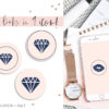 Pink Navy Blue Instagram Stylish Social Media Highlight Cover Icons by Scotch and Salt
