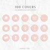 Pink Instagram Stylish Social Media Highlight Cover Icons by Scotch and Salt
