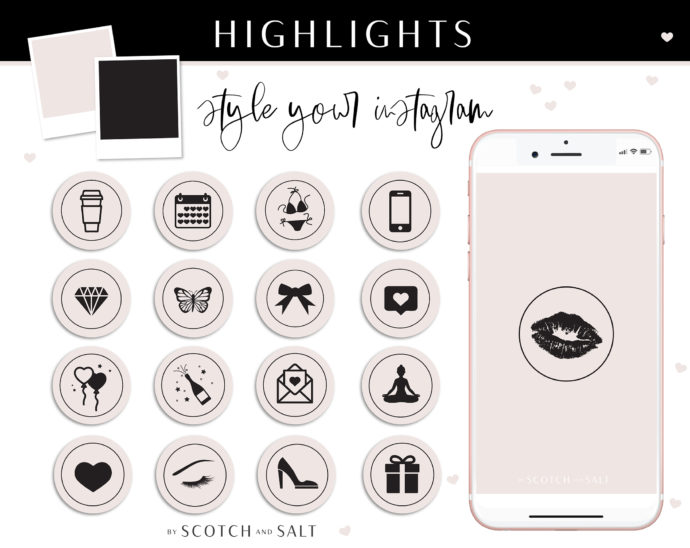 Purple Black Instagram Stylish Social Media Highlight Cover Icons by Scotch and Salt