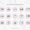 Purple Rose Gold Instagram Stylish Social Media Highlight Cover Icons by Scotch and Salt
