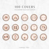 Rose Gold Glitter Instagram Stylish Social Media Highlight Cover Icons by Scotch and Salt