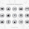 Silver Instagram Stylish Social Media Highlight Cover Icons by Scotch and Salt