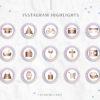 Unicorn Rainbow Glitter Instagram Stylish Social Media Highlight Cover Icons by Scotch and Salt