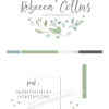 Mint Green Premade Logo Design for Photographers by Scotch and Salt