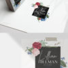 Red Rose and Blue Hydrangea Premade Logo Design for Photographers by Scotch and Salt