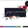 Edit Yourself Red Rose and Blue Premade Logo Design for Photographers by Scotch and Salt