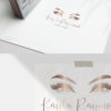 Rose Gold and Pink Premade Logo Design for Lash and Brow Artists by Scotch and Salt