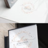 Rose Gold Sparkle Premade Logo Design for Makeup Artist by Scotch and Salt