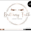 Edit Yourself Rose Gold Premade Logo Design for Lash and Brow Artists by Scotch and Salt
