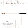 Rose Gold Premade Logo Design for Lash Technicians by Scotch and Salt