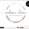 Edit Yourself Black and Rose Gold Premade Logo Design for Photography by Scotch and Salt