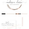 Black and Rose Gold Premade Logo Design for Photography by Scotch and Salt