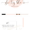 Black and Pink Premade Logo Design for Makeup Artists by Scotch and Salt