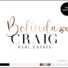 Rose Gold Real Estate Agent Key and House Premade Logo Design for Realtors by Scotch and Salt