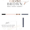 Black and Rose Gold Premade Logo Design for Real Estate Agents by Scotch and Salt