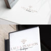 Black and Rose Gold Premade Logo Design for Boutiques by Scotch and Salt