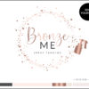 Edit Yourself Rose Gold Sparkle Premade Logo Design for Spray Tanning by Scotch and Salt