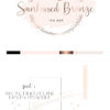 Rose Gold and Pink Premade Logo Design for Tan Bars by Scotch and Salt