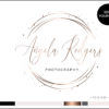 Edit Yourself Rose Gold Circle Sparkle Premade Logo Design for Photographers by Scotch and Salt