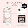 Rose Gold Marble Instagram Covers, DIY INSTAGRAM HIGHLIGHT Icon Covers Branding, Instagram Icon Template, diy Insta Story Icons