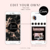 Black Marble Instagram Highlights Covers, DIY INSTAGRAM HIGHLIGHT Icon Covers Branding, Instagram Icon Template, diy Insta Story Icons