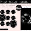 Diamond Instagram Highlight Covers, DIY INSTAGRAM HIGHLIGHT Icon Covers Branding, Instagram Icon Template, diy Insta Story Icons