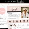 Media Kit Template Canva, Blogger Media Kit, Blog Rate Sheet, Press Kit, Instagram Rate Card for Influencer, Influencer TikTok Media Kit