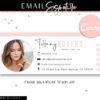 Email Signature Template, Professional Real Estate Clickable Custom Gmail Signature Image, Editable Canva Email Siganature Template