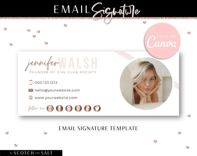Professional Email Signature Template, Edit Image Email Signature, Realtor Real Estate Broker Email Signature, Elegant Email Signature