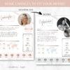 Rose Gold Media Kit Template, 2 Page Canva Media Kit for Social Media Blogger, Beauty Blogger Instagram Influencer Press Kit Pitch Kit